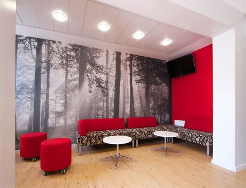 office lounge red grey black white sophisticated on paint colors for professional office id=84297
