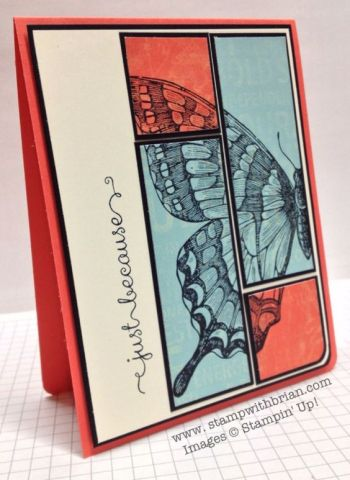 Swallowtail, A Dozen Thoughts, Stampin' Up!, Brian King, CCMC263: