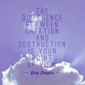 Gary Douglas, point of view