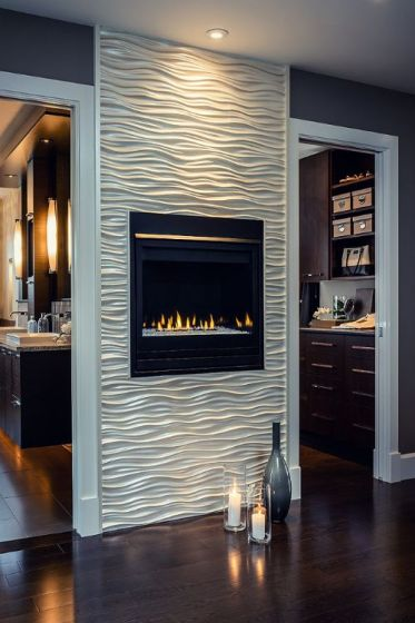 Wall Mounted Fireplace:
