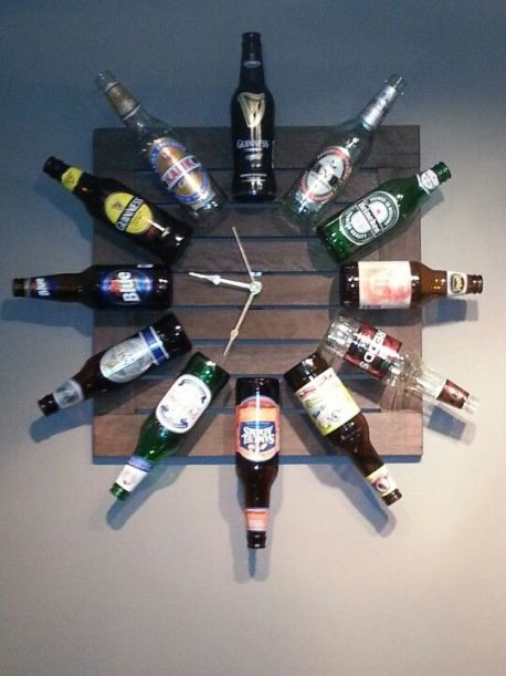 beer bottle clock