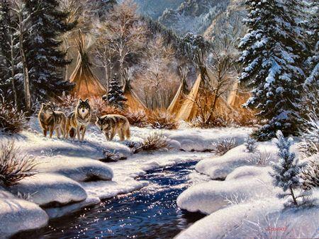 Wolves Artworks And Landscapes On Pinterest