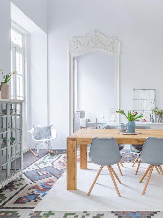 Un style scandinave pour la salle à manger ! #scandinave #déco #maison http://www.m-habitat.fr/tendances-et-couleurs/deco-par-style/une-maison-a-la-deco-scandinave-2766_A: