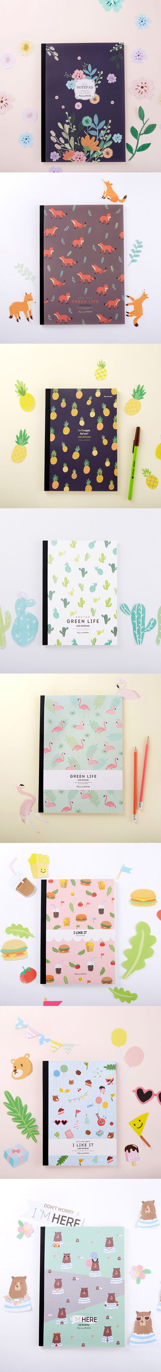 Flying Whales Pattern Notepad: