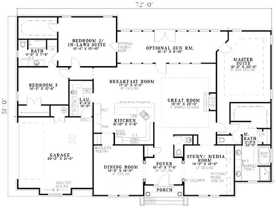 House Plans With 2 Master Suites Click To View Plan Main