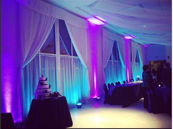 Wedding At Lakeside Reception Hall With Teal And Purple