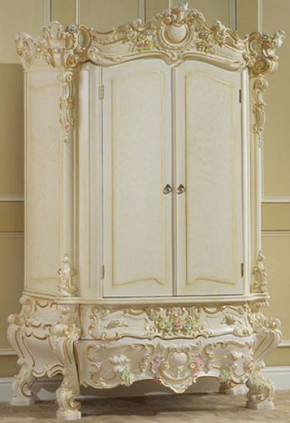 Antique Furniture- Victorian Armoire- The carvings is exquisite on this piece: