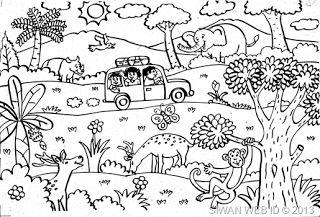 Contoh Gambar Doodle Kelas Mosik Express