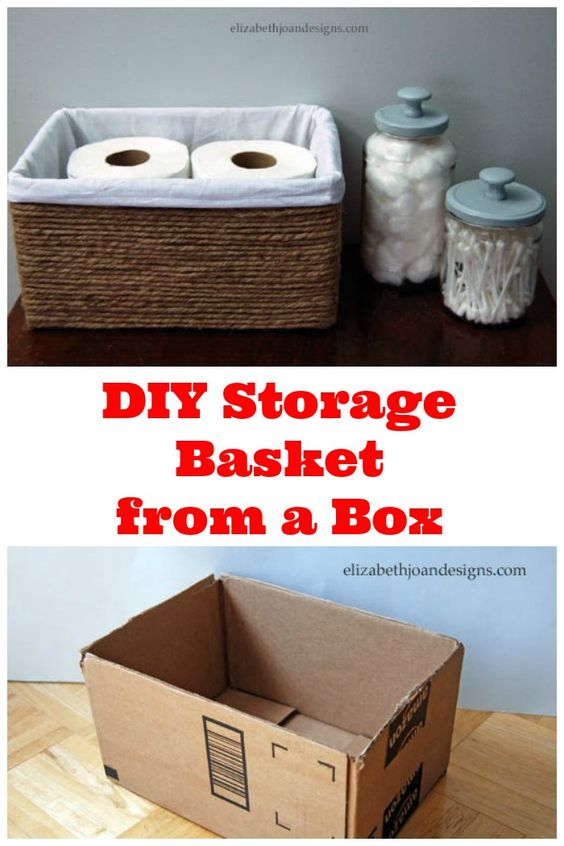 10 free organization ideas for your whole house using items you already have! So put those empty boxes, cans, and recyclables to good use!