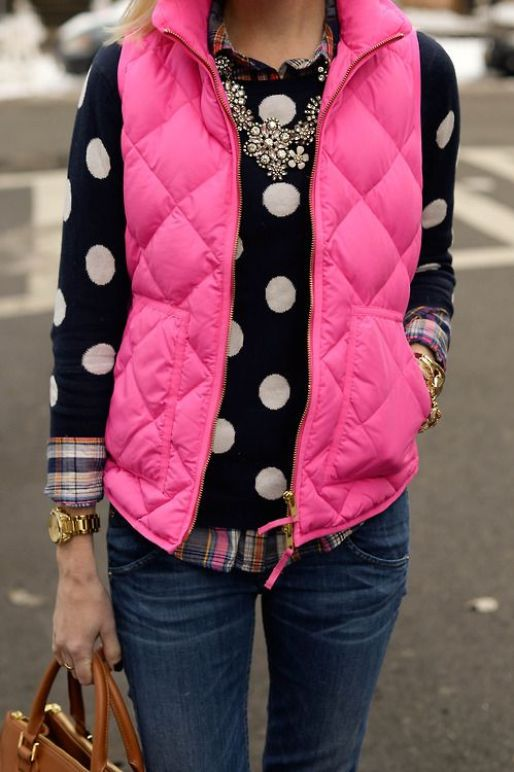 Pattern mixing is perfect for a preppy outfit!