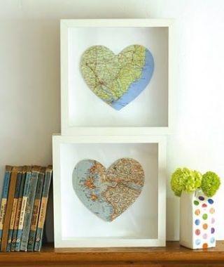 Resultado de imagem para mapa coração decoração
