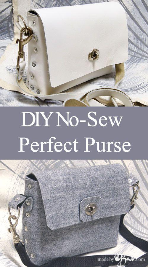 Diy No Sew Perfect Purse
