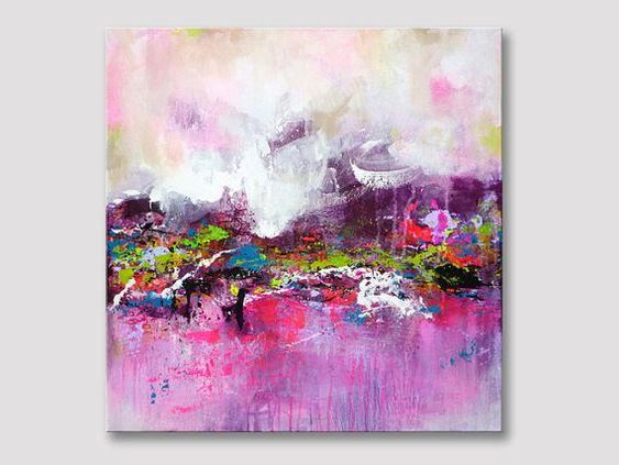 Original Abstract Textured Acrylic Painting, Modern Fine