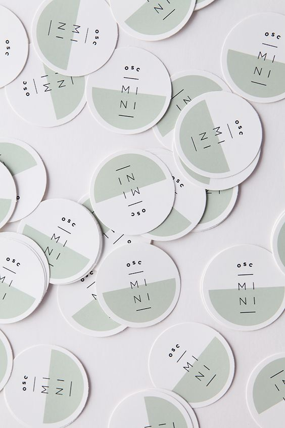 Modern round business cards