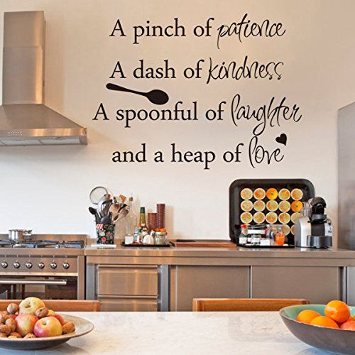 inspirational wall sticker quotes words art removable on wall stickers for kitchen id=39827