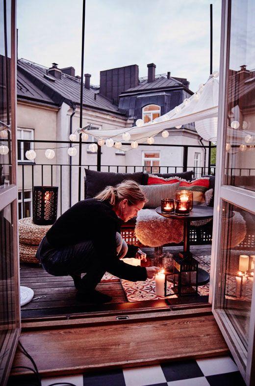 wnętrze w stylu boho, ogród w stylu boho, boho dekoracje, skandynawski balkon