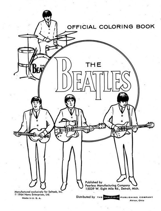 kidsnfun  coloring page beatles beatles  diy & crafts