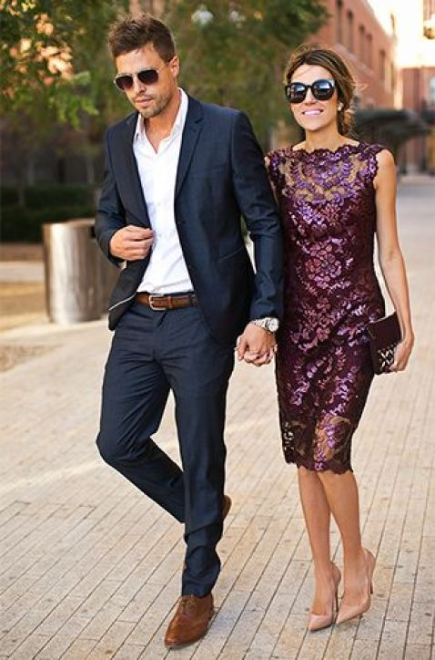 love this look for Warren & this dress for me!! (Men's Style | Hello Fashion):