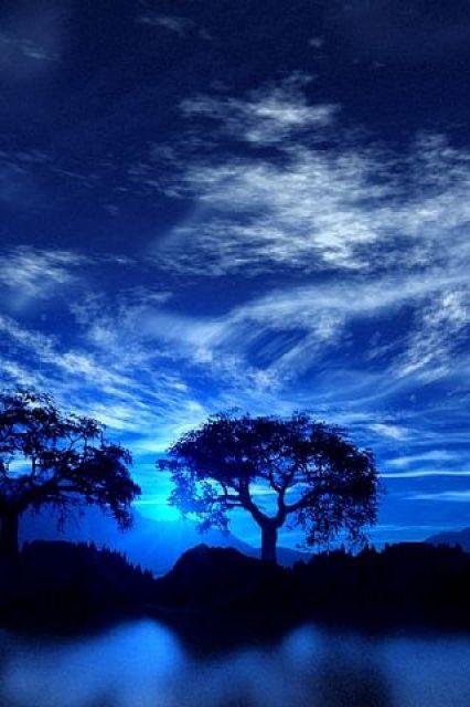 Beautiful shades of blue: