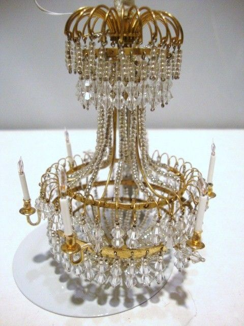 17 Best Images About Miniature Chandeliers On Pinterest 5 Light Chandelier Vintage Dollhouse And Swarovski Crystals