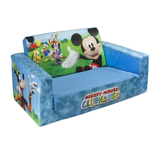 Marshmallow Flip Open Sofa Kids Couch Bed Disney Mickey