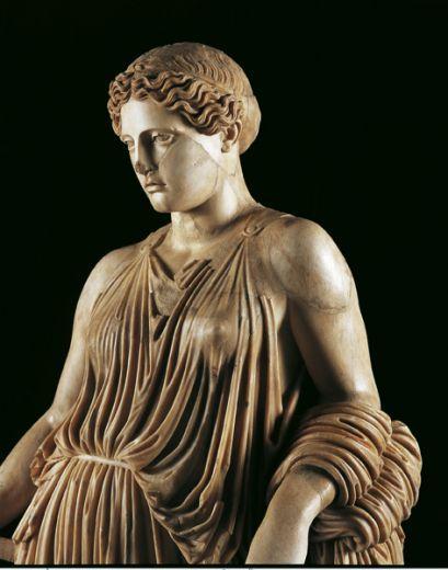 """Statua di """"Peplophoros"""" (Demetra), Villa dei Papiri. Ercolano:"""