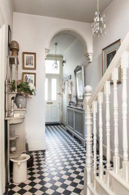 Treasure Trove - Monochrome tiles bring the Victorian hallway to life: