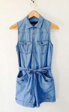 Light denim romper, Rag & Bone. $90: