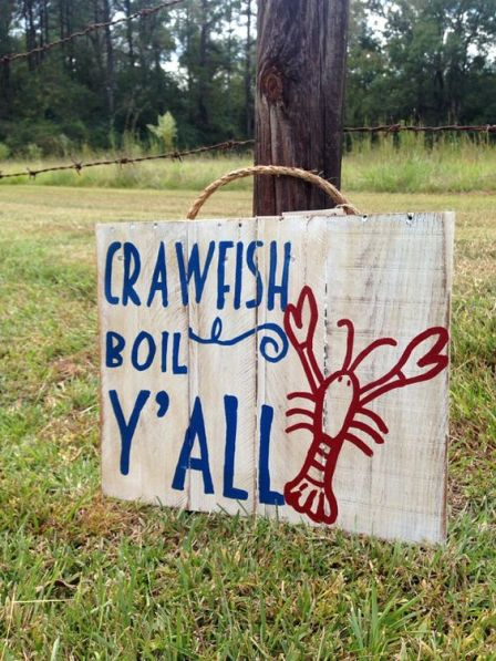 Crawfish boil pallet sign by TURQUOISETOO on Etsy: