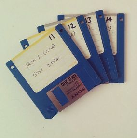 Who remembers the days of saving information on floppy disks.: