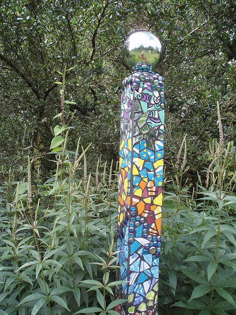 Pillar in the garden: