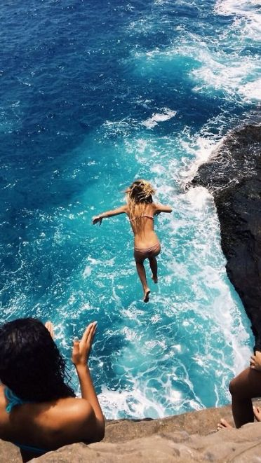 Cliff jumping is fun things to do around San Diego University!