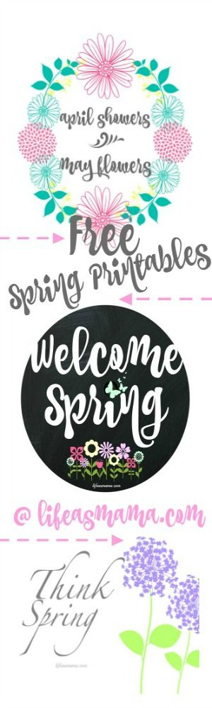 Fresh, spring FREE printables you'll love! via Life As Mama