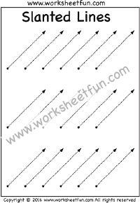 Slanted Line Tracing One Worksheet