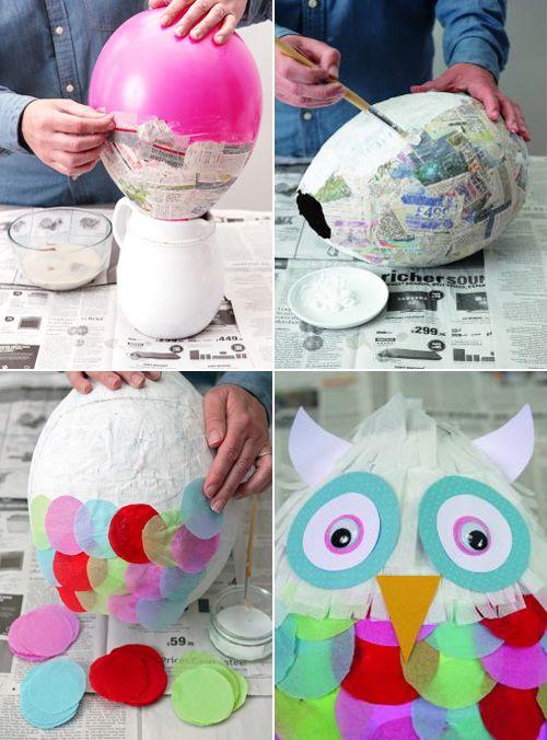 My Owl Barn DIY Owl Pinata I Heart Owls Pinterest
