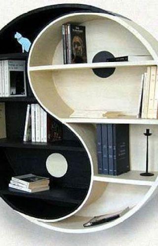 Ying-yang bookshelf: