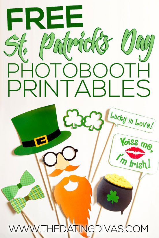 Free St. Patrick's Day Photobooth Printables via The Dating Divas - The kids will LOVE these! And ya gotta love FREE!
