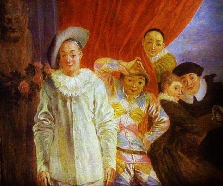 Αποτέλεσμα εικόνας για Jean Antoine Watteau, Harlequin, Pierrot and Scapin
