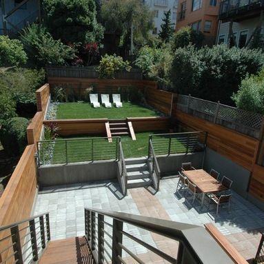 Split Level Garden Outdoor Design Ideas, Pictures, Remodel ... on Split Garden Ideas id=30767