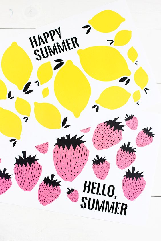 Free Printable Summer Placemats via Alice and Lois - Make snacking and mealtime fun this summer with these cute free printable summer placemats!