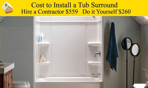 Cost To Install A Tub Surround Want To Replace Old