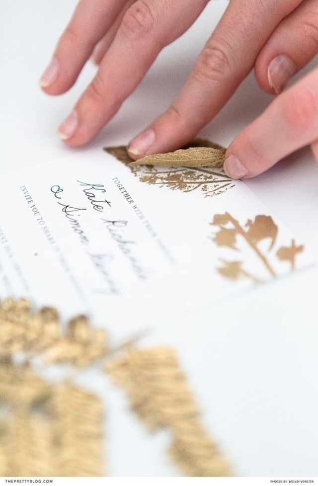 DIY Gold Leaf Prints | Photography by Wesley Vorster | DIY and Design by White Kite Studio: