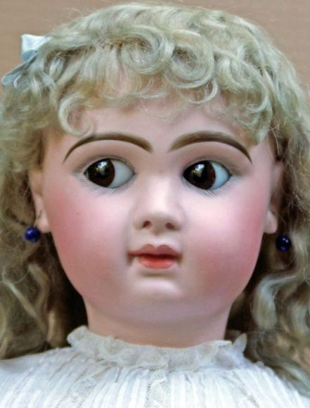 "Rare 26"" Jumeau with flirty and sleep eyes. from richardsaxmanantiques on Ruby…:"