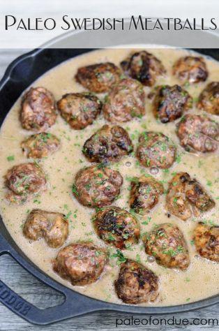 Paleo Swedish Meatballs: