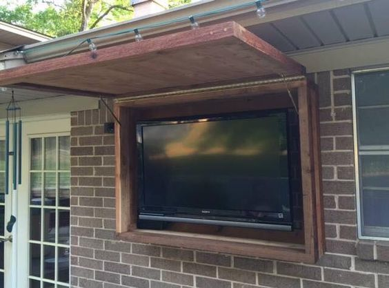 outdoor tv cabinet made of rough cedar lumber outdoortvcabinet cedar creek woodworks on outdoor kitchen tv id=71562