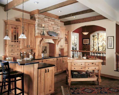 Cabinets, Dark counters and Maple cabinets on Pinterest on Maple Kitchen Cabinets With Dark Wood Floors Dark Countertops  id=57704