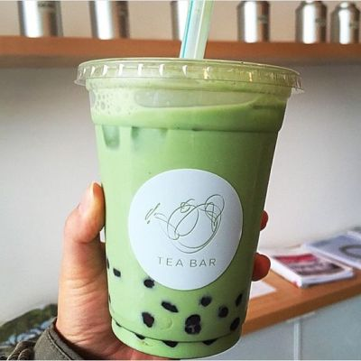 Bubble Tea Matcha Latte Boba Drink Green Tea Bar Portland Oregon