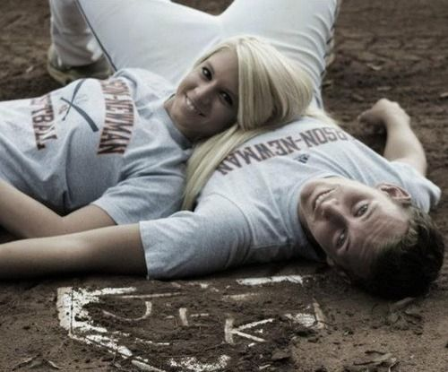 Softball baseball couple Awww