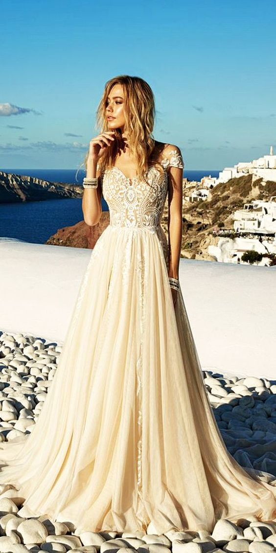 Eva Lendel 2017 Santorini Wedding Dresses Collection ❤ See more: http://www.weddingforward.com/eva-lendel-2017-wedding-dresses-collection/ #weddings: