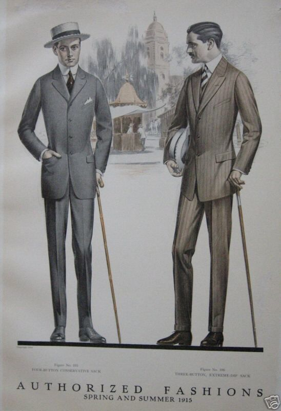 "More men's ""sack suits,"" 1915.:"